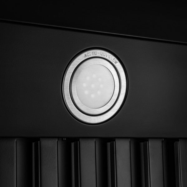 Under Cabinet Range Hood In Black Painted Stainless Steel